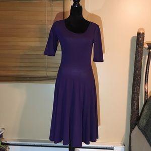 Purple Lularoe Dress. 3/4 sleeves. Nicole Style